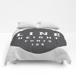Line Height & Font Size (Solo) Comforters