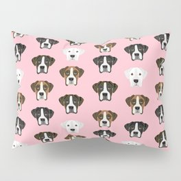 Boxers cute dog head boxer pattern must have gifts for dog lover with boxers Pillow Sham