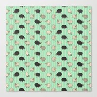 sheep Canvas Prints featuring Sheep by sheena hisiro