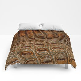 It's A Croc! - Faux (2D) Crocodile Hide Comforters