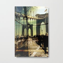 to the other side of Brooklyn Bridge Metal Print