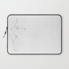 'Unfurl', Dancer Line Drawing Laptop Sleeve