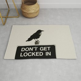 Don't Lock Me In - Graphic Birds Series, Plain - Modern Home Decor Rug