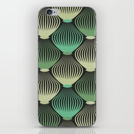 Ornamental cages green pattern iPhone Skin