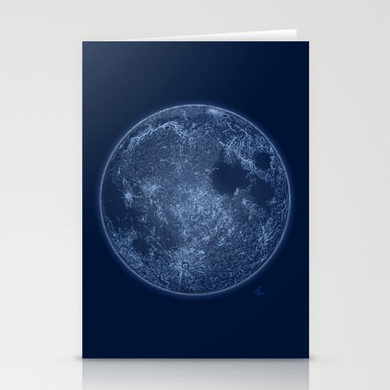 Dark Side of the Moon - Painting Stationery Cards