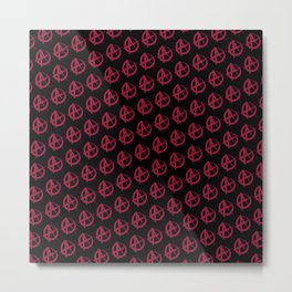 Anarchy Pattern Metal Print