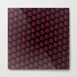 Anarchy Pattern Metal Print