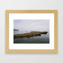 Seaside Stones Framed Art Print