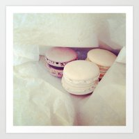 macaroons Art Prints featuring Macaroons by Maria Higson