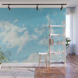 Perfect Blue Summer Sky Nature Photography Wall Mural
