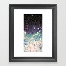 Swimming in your ocean Framed Art Print