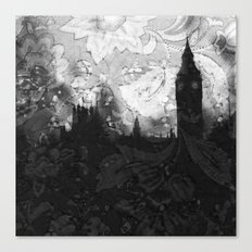 On A Rainy Day in London Canvas Print
