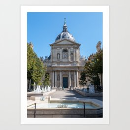 Tower of the Sorbonne University in Paris Art Print