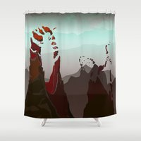 occult Shower Curtains featuring Occult Summit by Sean Thomas McDowell