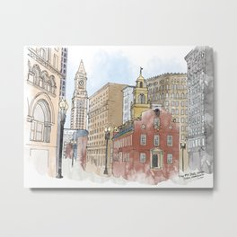 The Old State House Metal Print