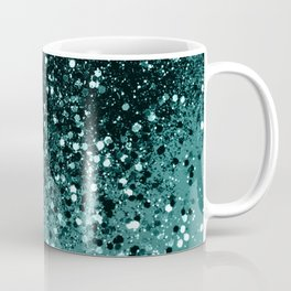 Teal Mermaid Ocean Glitter #3 #shiny #decor #art #society6 Coffee Mug