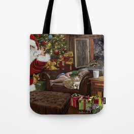 Snappy Santa Tote Bag