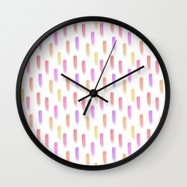 Bright watercolor pattern Wall Clock