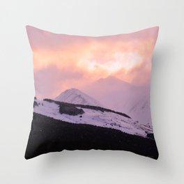 Rose Quartz Turbulence - III Throw Pillow