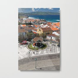 City in Azores islands Metal Print
