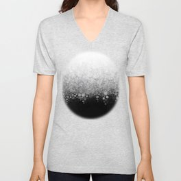 Snowfall on Black Unisex V-Neck