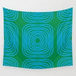 LISBOA, bright green & blue Wall Tapestry