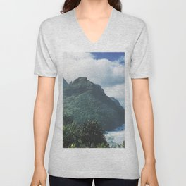 Na Pali Coast Kauai Hawaii Unisex V-Neck