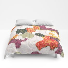Abstract floral camouflage Comforters