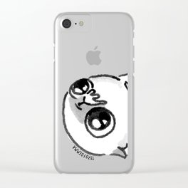 Mochi the pug begging Clear iPhone Case