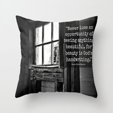 God's Handwriting Throw Pillow