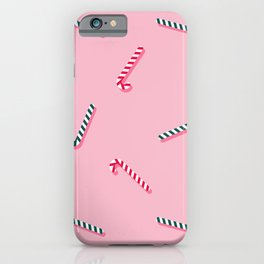 Candy Canes - Pink iPhone Case