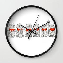 Line of Jizo Wall Clock