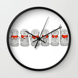 Line of Jizo Wall Clock