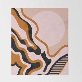 Beautiful Journey - Caramel and Cream Throw Blanket