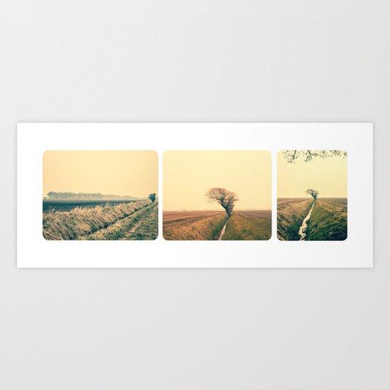 Colour Landscape Triptych  Art Print