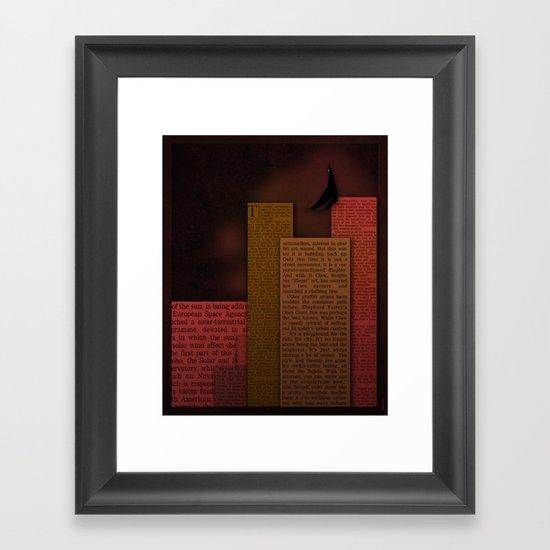 PAPER HEROES - Gotham Framed Art Print