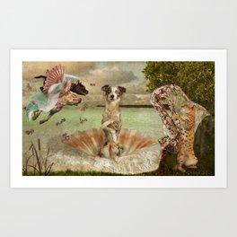 Birth of Luna Art Print