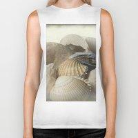 shells Biker Tanks featuring Shells by Fran Walding