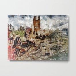 Destruction, World War One Metal Print