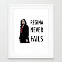 regina mills Framed Art Prints featuring Regina never fails by Geek World