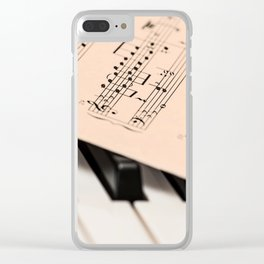 Piano music poster Clear iPhone Case