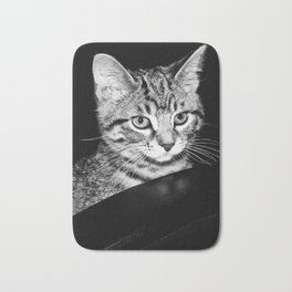 Time is what turns kittens into cats Bath Mat