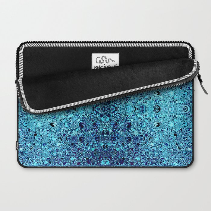 Deep blue glass mosaic Laptop Sleeve