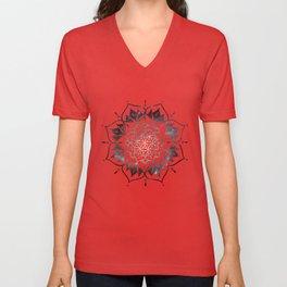 Namaste Nebula Mandala Design Unisex V-Neck