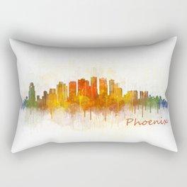 Phoenix Arizona, City Skyline Cityscape Hq v3 Rectangular Pillow