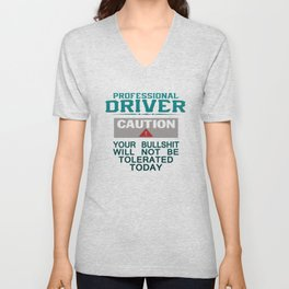 Truck Driver Safety Unisex V-Neck