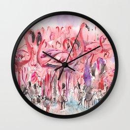 Flamingoes Wall Clock