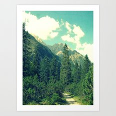 take the long way home Art Print