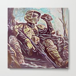 Scout Trooper Metal Print