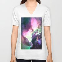 nebula V-neck T-shirts featuring Pastel nebULa by 2sweet4words Designs
